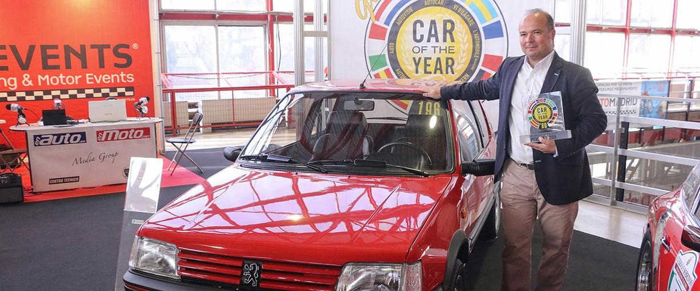 """El Peugeot 205, """"Golden Car of the Year"""""""