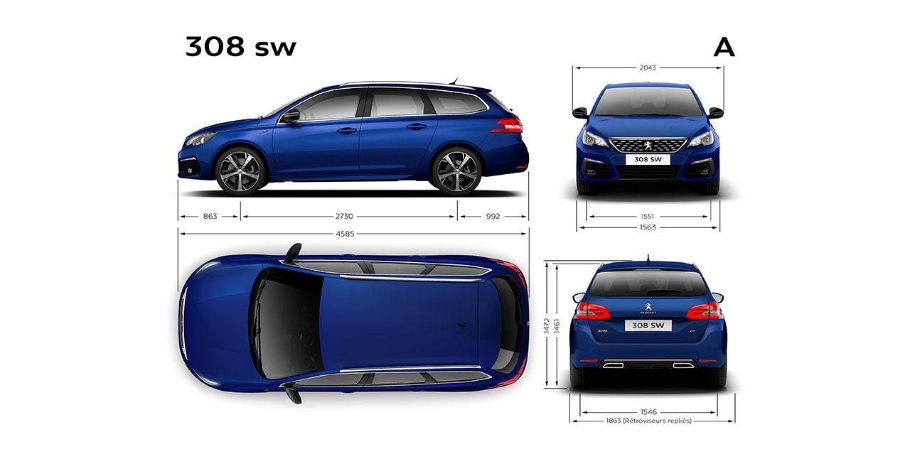 Nuevo PEUGEOT 308 SW - Dimensiones exteriores