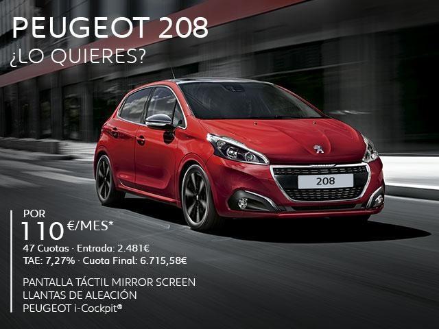 Oferta Peugeot 208 Cuota Abril