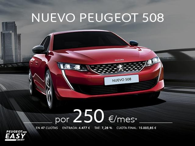 Cuotas Nuevo Peugeot 508