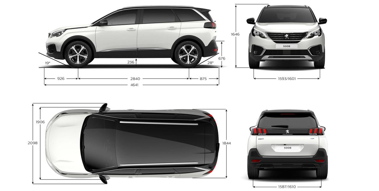 Nuevo SUV PEUGEOT 5008: Dimensiones exteriores