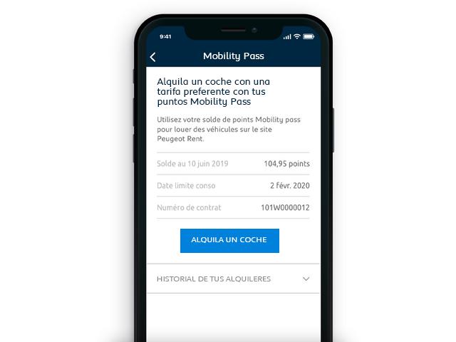 Tecnología y servicios conectados Peugeot mobility pass