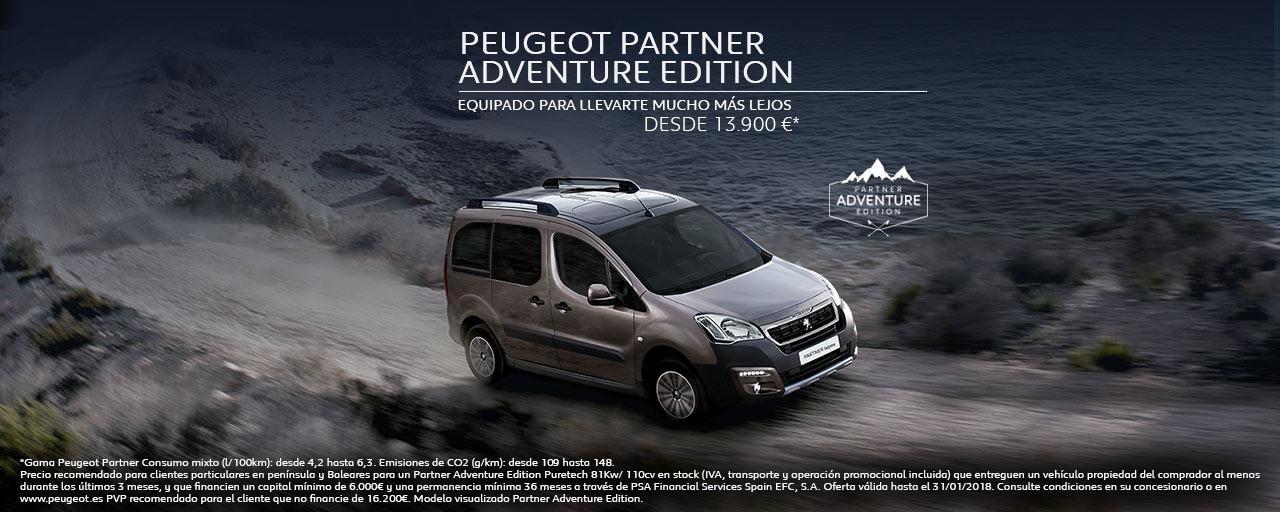 Peugeot Partner Adventure Edition MainBanner