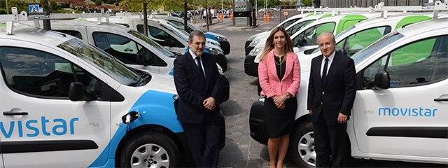 Telefónica vehículos eléctricos Peugeot