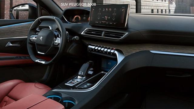 Nuevo SUV PEUGEOT 3008 - Gran interior térmico de cuero rojo