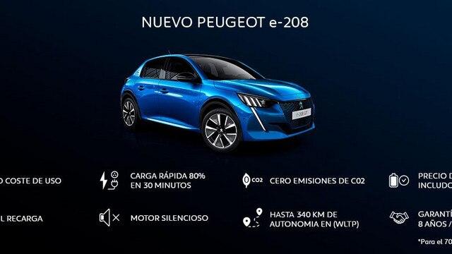 Nuevo Peugeot e-208 infografía