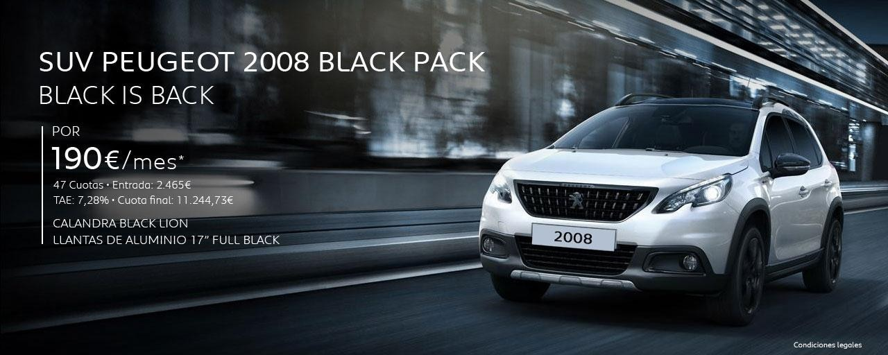 SUV Peugeot 2008 Black Pack - Black is Back