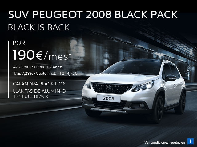 SUV Peugeot 2008 Black Pack - Black is Back Móvil