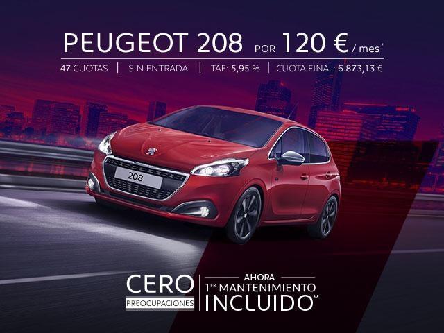 Peugeot 208 Cero Preocupaciones Oferta
