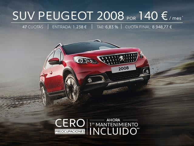 SUV Peugeot 2008 Cero Preocupaciones Oferta