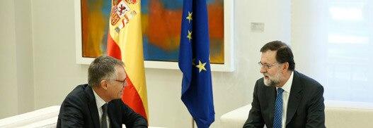 Carlos Tavares y Maxime Picat se reúnen con Mariano Rajoy en la Moncloa