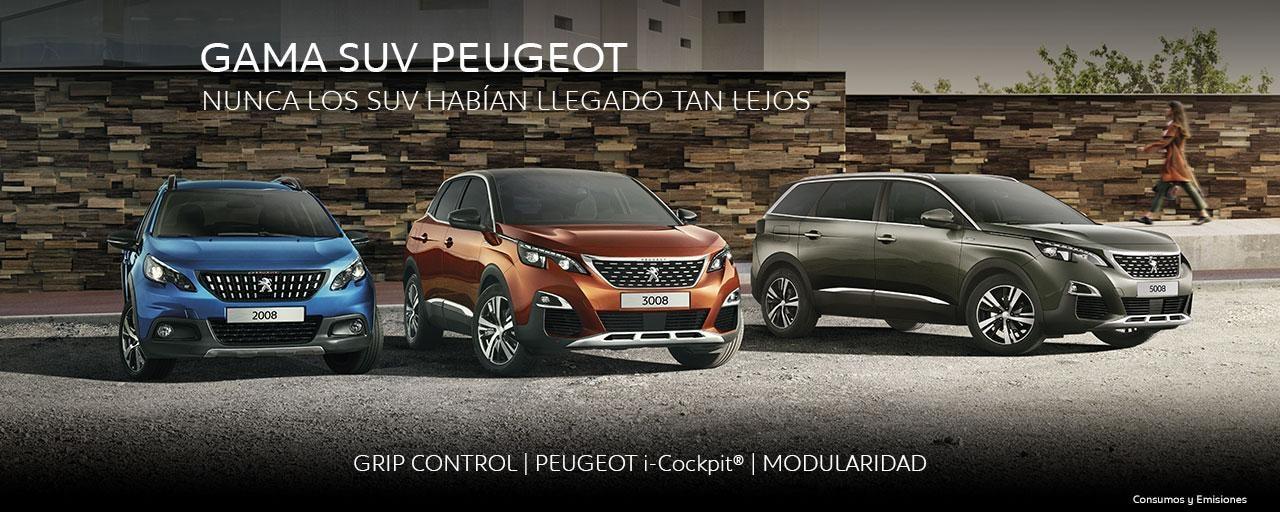 Gama SUV Peugeot - Completamente equipados