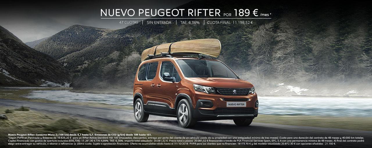 Mainbanner Nuevo Peugeot Rifter Octubre