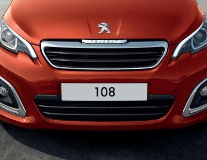 Peugeot 108 5 Puertas - Frontal y faros delanteros