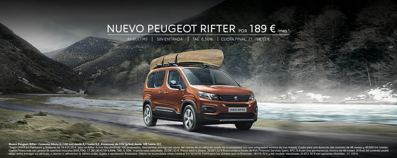 Mainbanner Nuevo Peugeot Rifter