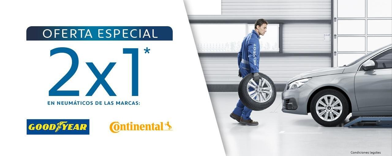Oferta especial 2x1 neumáticos julio
