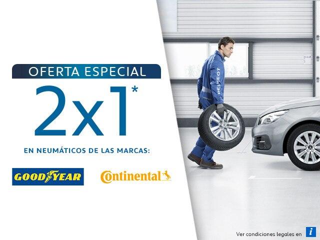 Oferta especial 2x1 en neumáticos julio