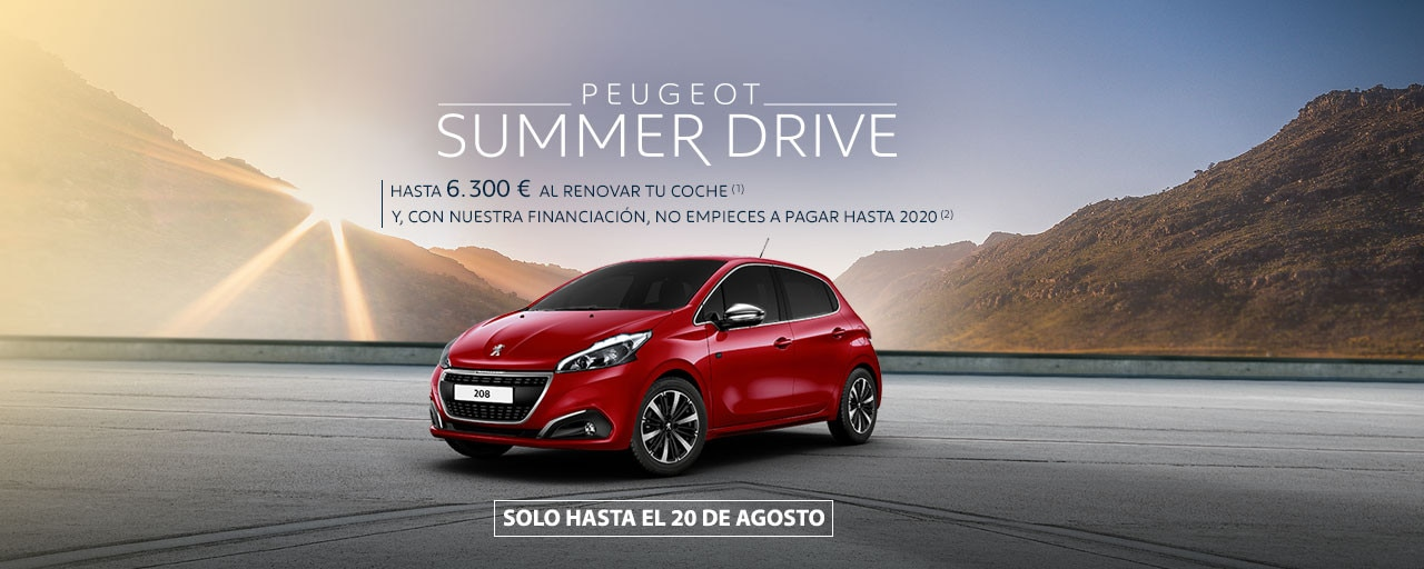 Peugeot 208 summer drive agosto