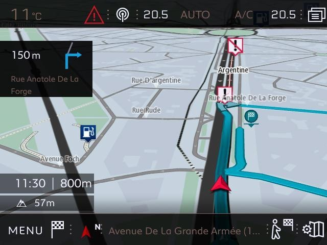 Vehículos equipados con navegación 3D conectada