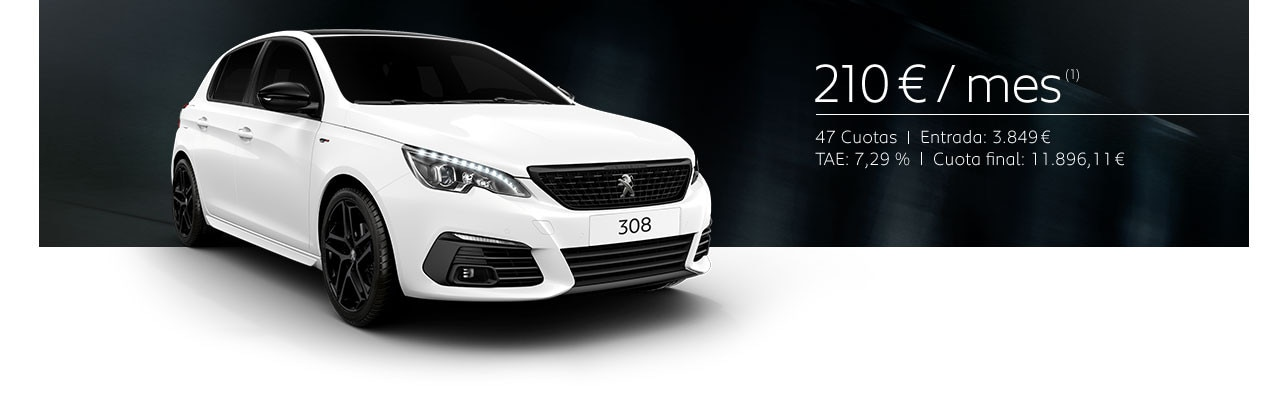 Peugeot 308 Berlina Black Pack Cuota