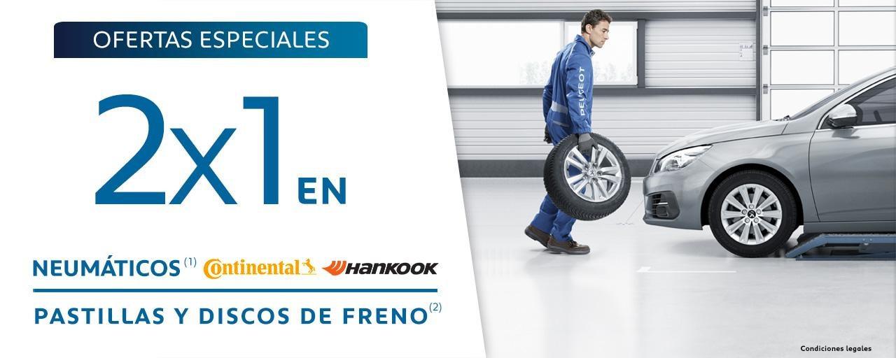 Oferta Posventa 2x1 Neumáticos y Discos de freno