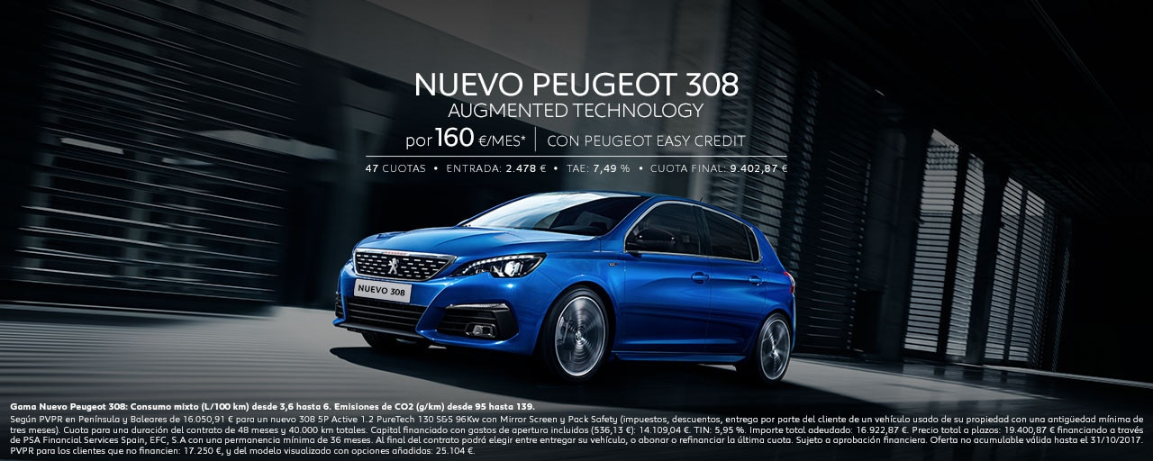 Mainbanner Nuevo Peugeot 308 Berlina Augmented Technology