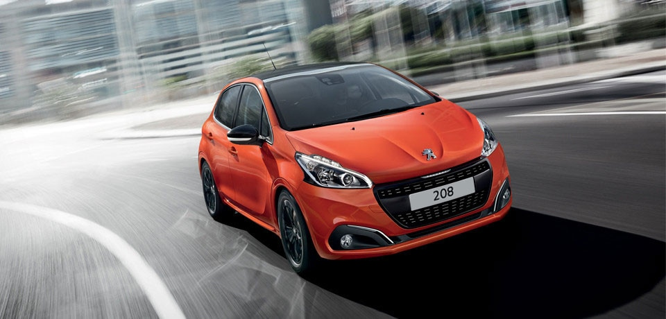 Peugeot 208 color metalizado Orange Power