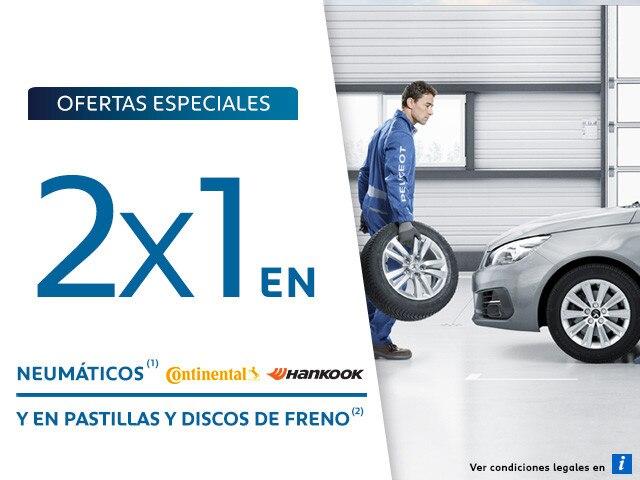 Oferta Posventa 2x1 Neumáticos y Discos de freno Móvil