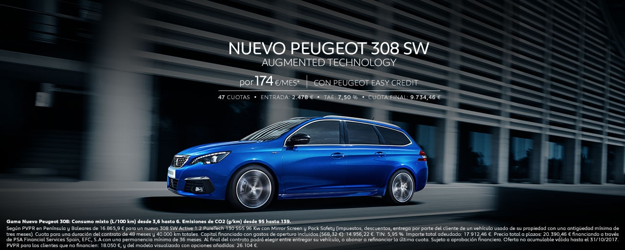 Mainbanner Nuevo Peugeot 308 SW Augmented Technology