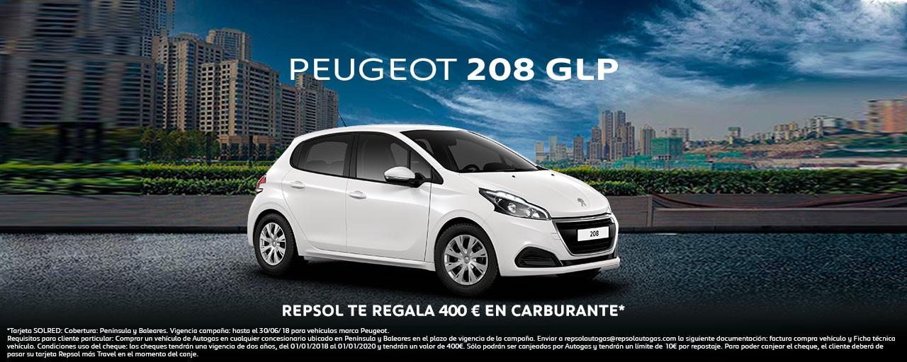 Peugeot 208 GLP Gas Petróleo Licuado turismos enero