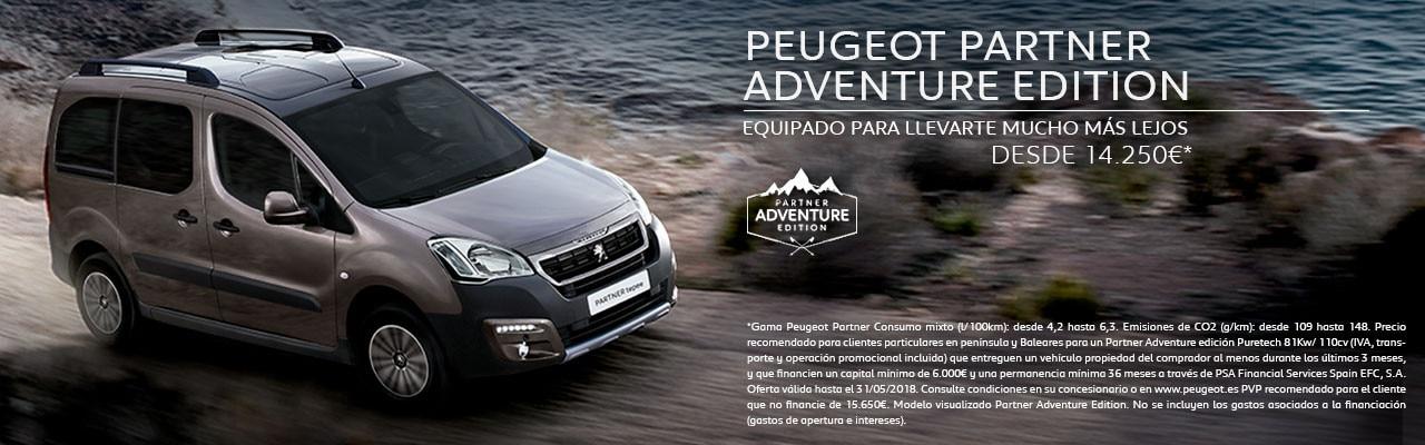 Peugeot Partner Adventure Edition mayo