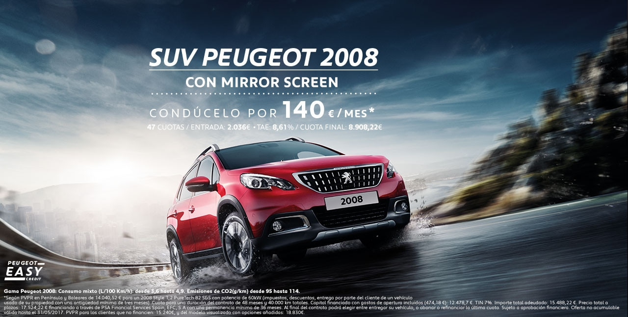 peugeot 2008 prueba el suv compacto de peugeot. Black Bedroom Furniture Sets. Home Design Ideas