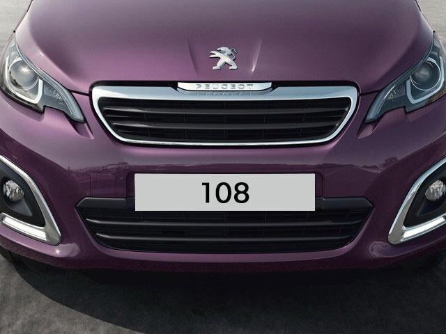 Peugeot 108 3 puertas firma luminosa