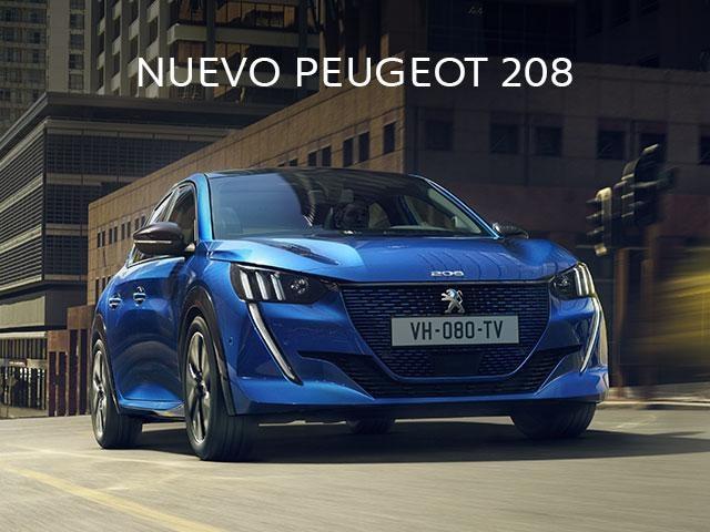 Mainbanner Nuevo Peugeot 208 azul móvil