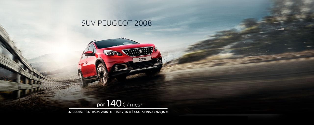 SUV Peugeot 2008 Cuotas Marzo