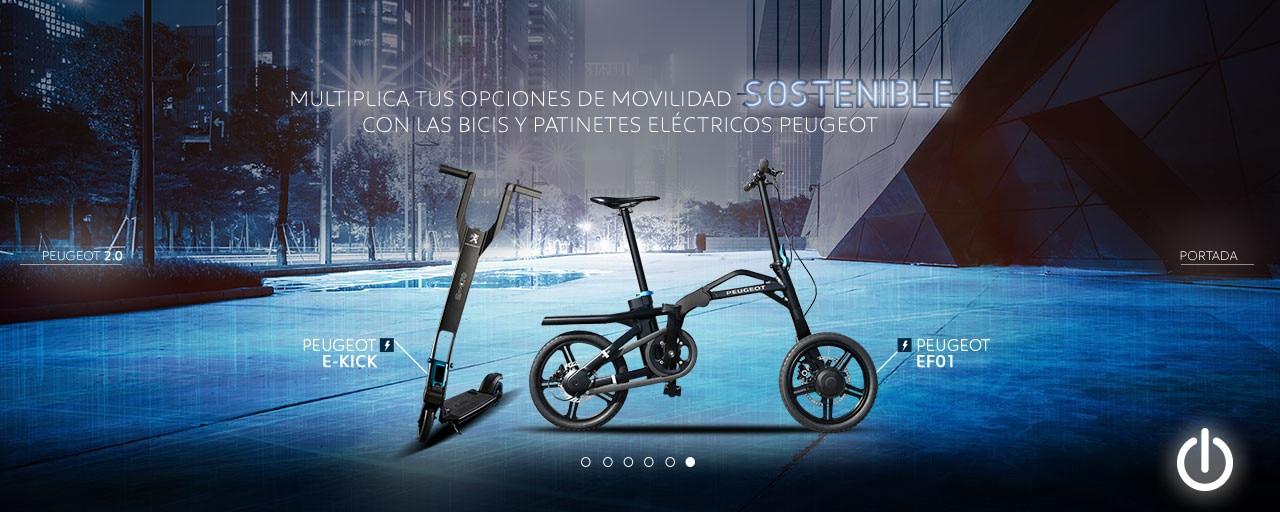 Servicios eléctricos Peugeot bicicleta y patinete eléctrico