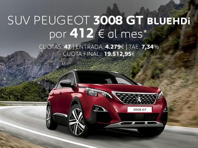 Oferta SUV Peugeot 3008 GT BlueHDi