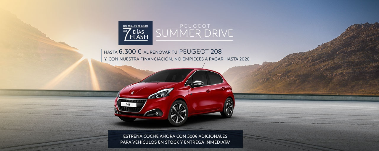 Peugeot 208 Summer Drive - 7 Días Flash
