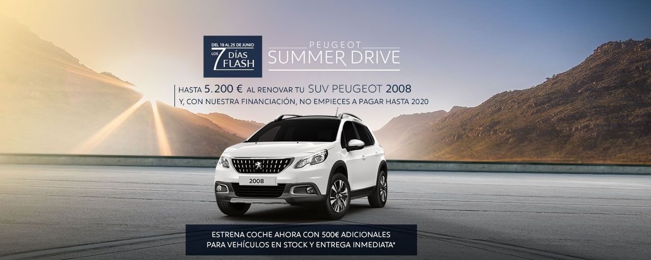 SUV Peugeot 2008 Summer Drive - 7 Días Flash