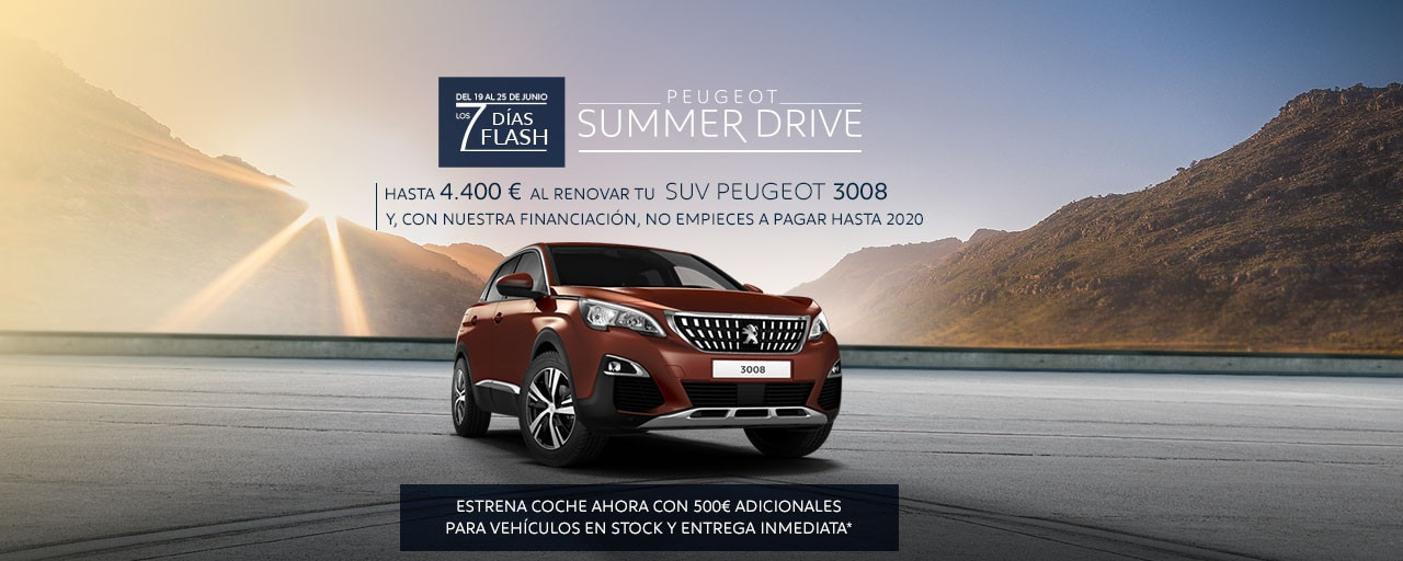SUV Peugeot 3008 Summer Drive - 7 Días Flash