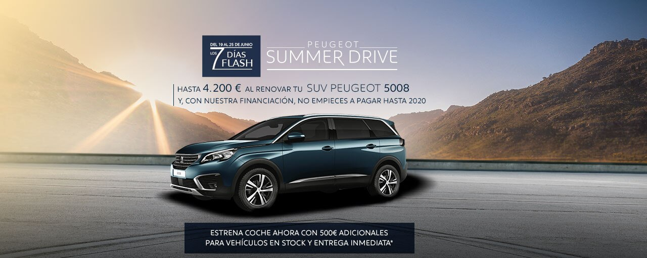 SUV Peugeot 5008 Summer Drive - 7 Días Flash