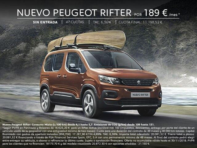 Nuevo Peugeot Rifter Móvil Noviembre