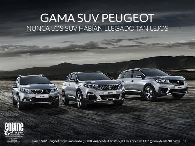 Gama SUV Peugeot 2018