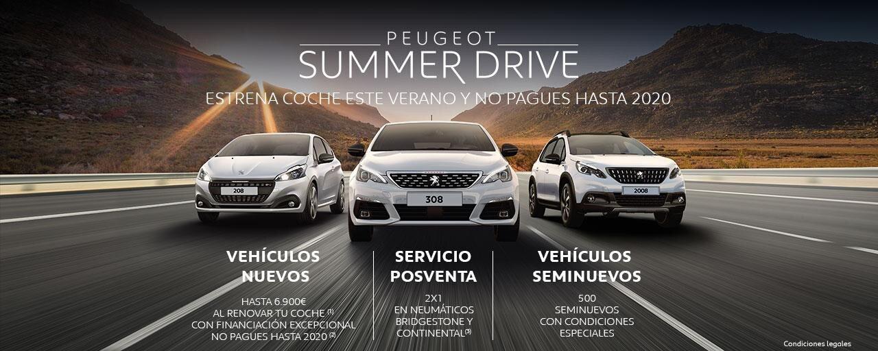 Peugeot Summer Drive - Estrena coche este verano