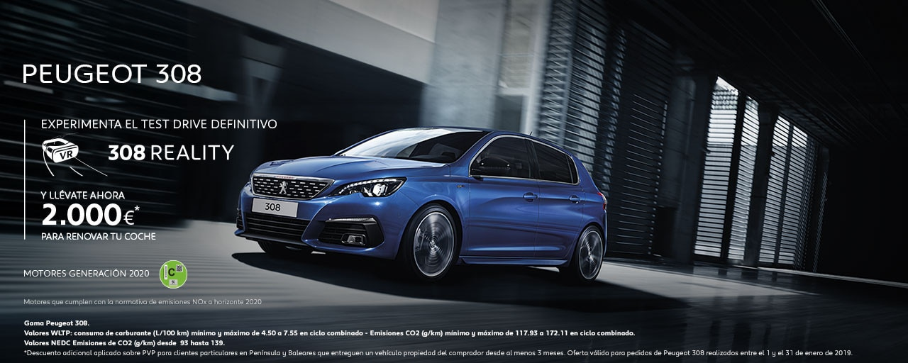 Mainbanner Peugeot 308 Test Drive Reality