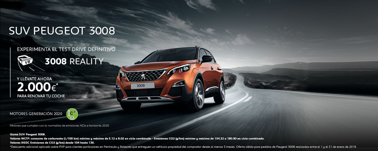 Mainbanner SUV Peugeot 3008 Test Drive Reality