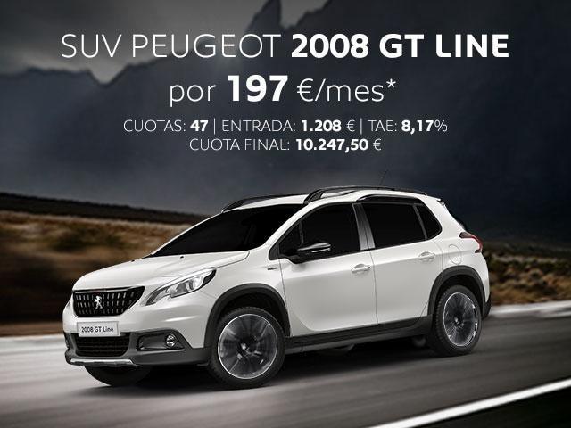 Oferta SUV Peugeot 2008 GT Line Febrero