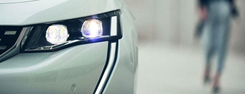 Faros del Nuevo Peugeot 508 Hybrid