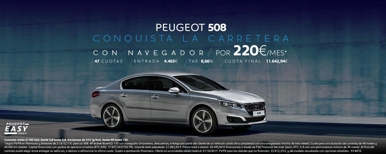 Mainbanner Oferta Peugeot 508 Octubre