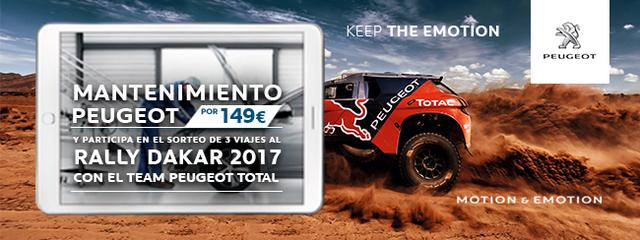 El mantenimiento Peugeot te lleva al Dakar 2017